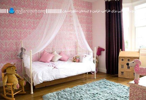دکوراسیون دخترانه اتاق کودک با طراحی فانتزی