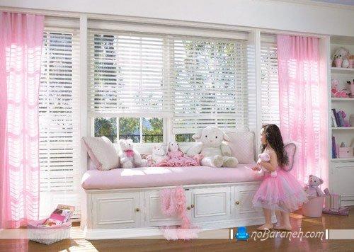 دکوراسیون دخترانه اتاق کودک به شکل پرنسسی