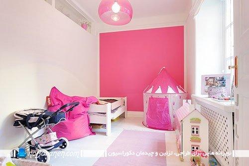 چیدمان و طراحی دکوراسیون دخترانه اتاق کودک
