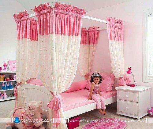 مدل تخت خواب فانتزی برای دکوراسیون دخترانه اتاق کودک