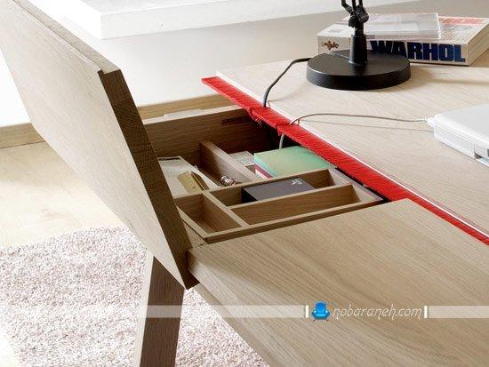 مدل جدید میز مطالعه و تحریر با طراحی شیک و ساده / عکس