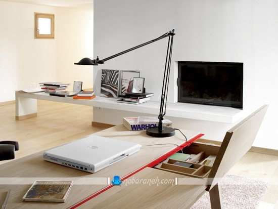طرح جدید و مدرن میز تحریر چوبی