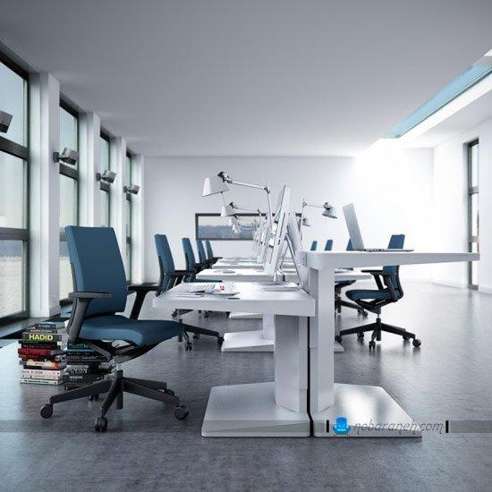 میز اداری و کارمندی با ارتفاع قابل تنظیم