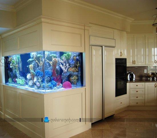 آکواریوم خانگی در دکوراسیون آشپزخانه