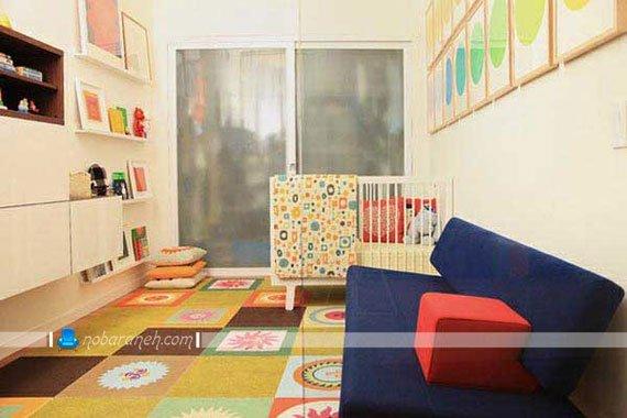سیسمونی اتاق نوزاد به شکل ساده و مدرن