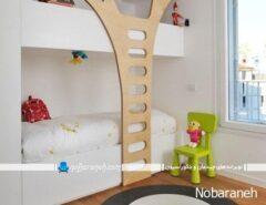 تخت خواب اتاق کودک با طراحی جدید دو طبقه