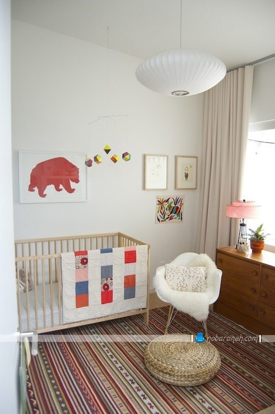 طراحی دکوراسیون اتاق نوزاد / عکس