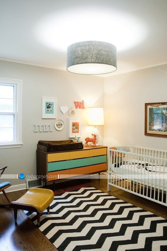 طراحی دکوراسیون اتاق نوزاد به شکل مدرن و شیک