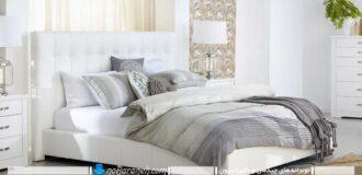 سرویس خواب سفید رنگ برای اتاق عروس داماد