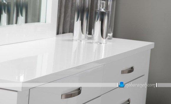 عکس و مدل دراور و میز آرایش سفید رنگ برای اتاق عروس / عکس