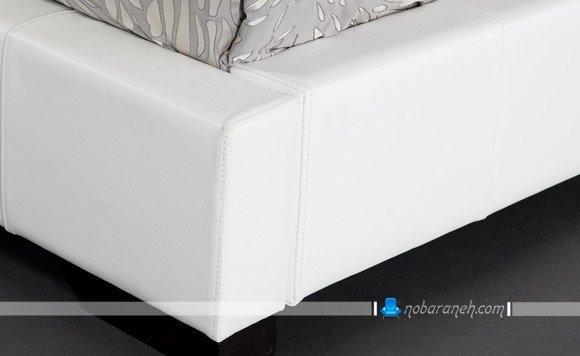عکس و مدل سرویس خواب و تخت خواب عروس با رویه چرمی سفید رنگ / عکس
