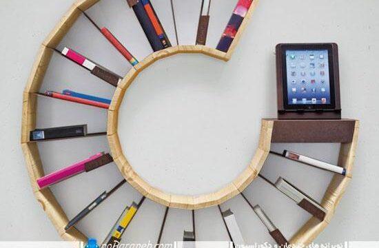 مدل جدید کتابخانه چوبی و دیواری