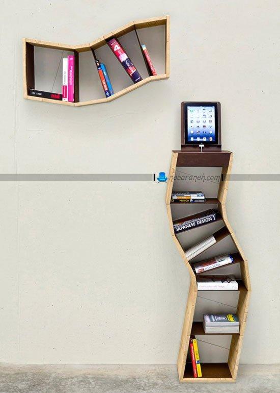 کتابخانه چوبی دیواری و پایه دار