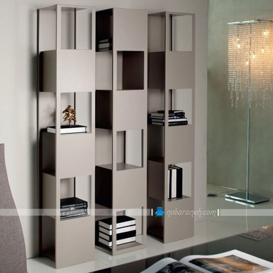 مدل قفسه کتاب و بوفه چوبی