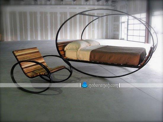 عکس و مدل سرویس خواب عروس با مبل راحتی و میز پاتختی / عکس