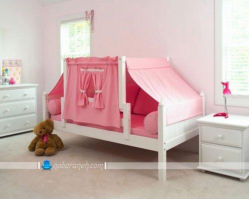 عکس و مدل سرویس خواب اتاق کودک با رنگ سفید و صورتی / عکس