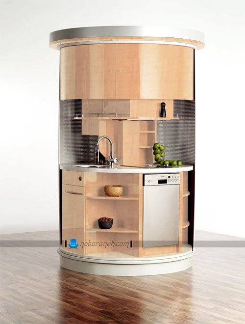 کابینت آشپزخانه های کوچک آپارتمانی / عکس