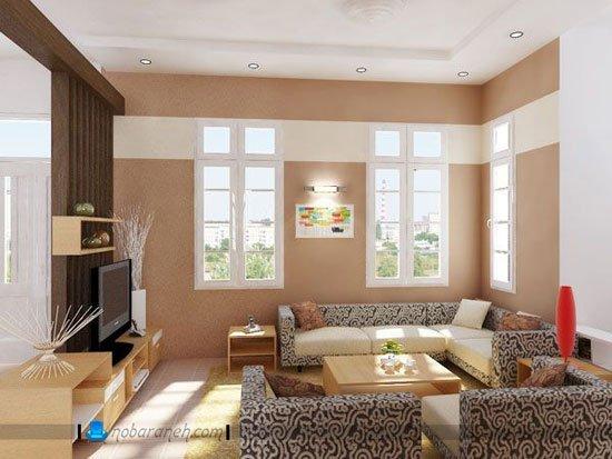 چیدمان مبلمان منزل در اتاق نشیمن و پذیرایی کوچک / عکس