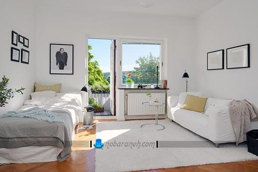 دکوراسیون داخلی خانه با رنگ سفید طراحی دکوراسیون داخلی آپارتمان کوچک. آموزش چیدمان منزل کوچک ، آموزش چیدمان منزل کوچک ، دکوراسیون خانه های 40 متری