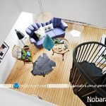 خانه دوبلکس کوچک با طراحی دکوراسیون و نقشه زیبا