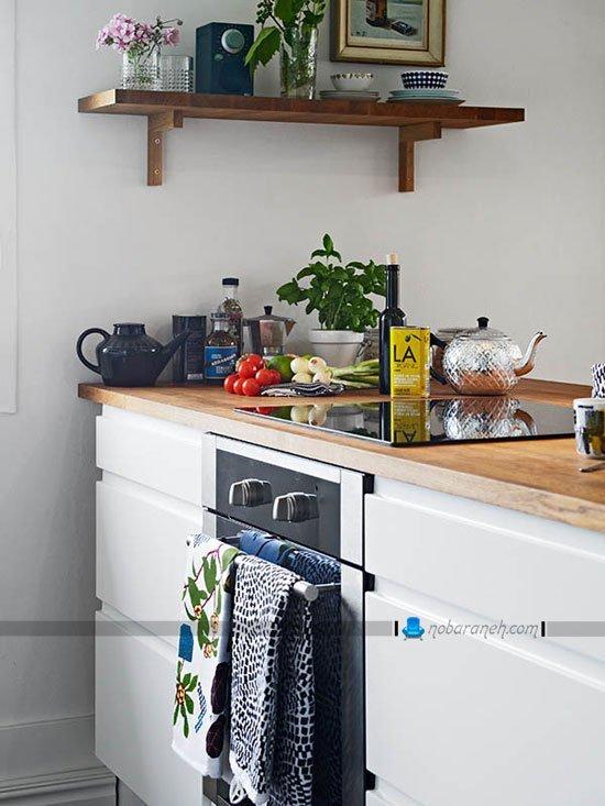 دیزاین آشپزخانه در منزل دوبلکس کوچک