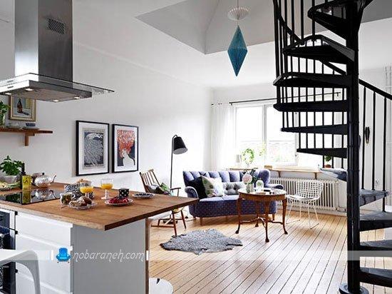 دیزاین و طراحی دکوراسیون خانه دوبلکس کوچک