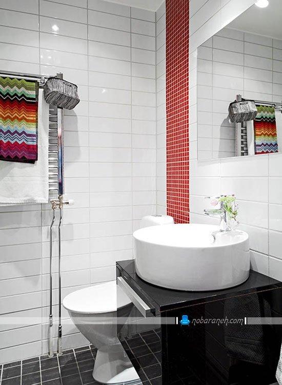 طراحی دکوراسیون سرویس بهداشتی خانه دوبلکس کوچک