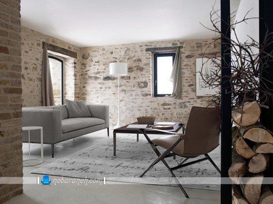 چیدمان ترکیبی در اتاق نشیمن با مبلمان های ساده و فانتزی / عکس