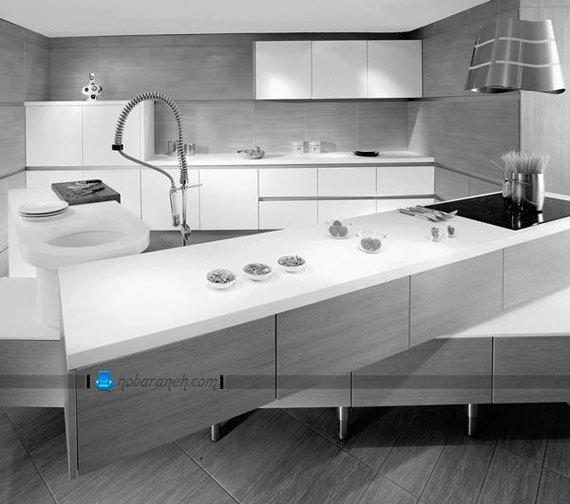 کابینت سفید و مدرن آشپزخانه