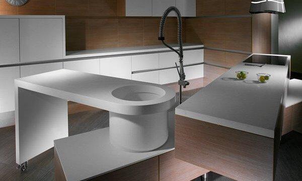 مدل اپن آشپزخانه با طراحی جدید و چند تکه