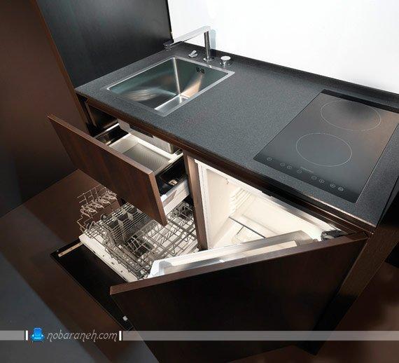 کابینت آشپزخانه کوچک و کمجا کابینت ام دی اف mdf کوچک