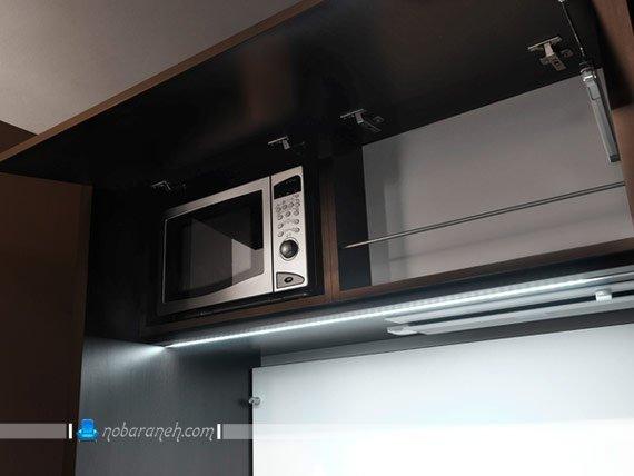 مدل جدید کابینت آشپزخانه کوچک و کمجا