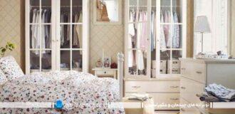 مدل کمد لباس برای اتاق خواب به شکل بوفه ای