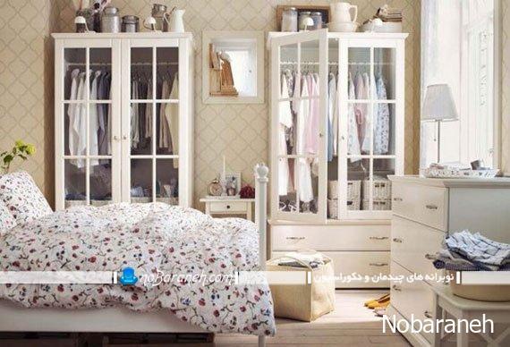 طراحی و تزیین دکوراسیون اتاق خواب عروس و داماد به سبک ایکیا / عکس