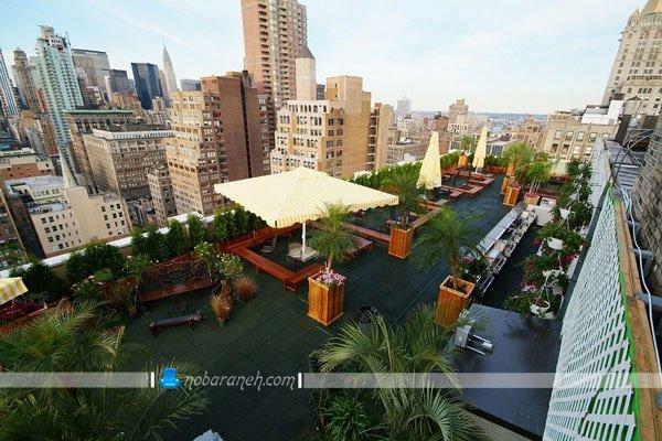 باغ بام یا روف گاردن چیست ؟ ، طراحی فضای سبز و روف گاردن در پشت بام مجتمع های مسکونی و اداری، باغ بام های زیبا برای پشت بام های بزرگ