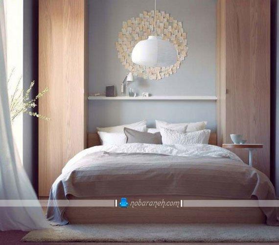 دکوراسیون شیک اتاق خواب با طراحی مدرن ایکیا ikea