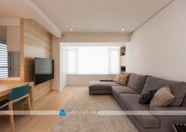 طراحی دکوراسیون چوبی منزل با کفپوش و دیوارپوش