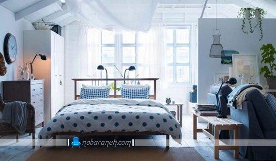 مدلهای طراحی دکوراسیون شیک اتاق خواب عروس با ایکیا ike