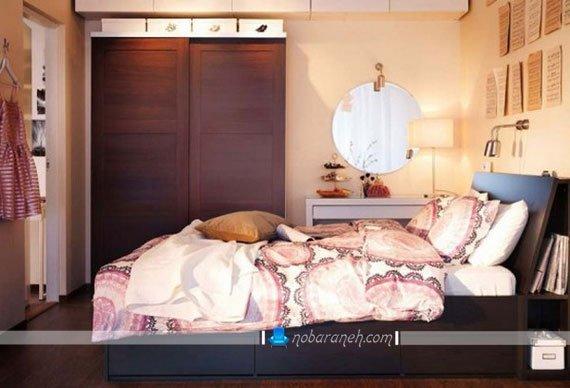 عکس و مدل طراحی دکوراسیون اتاق خواب با محصولات و مبلمان ایکیا / عکس