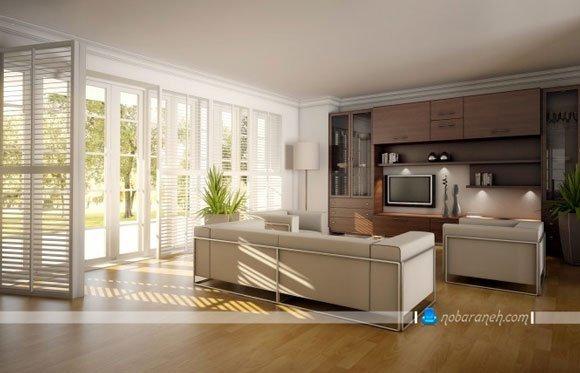 مدل های جدید چیدمان مبلمان به شکل ساده و متداول در اتاق نشیمن