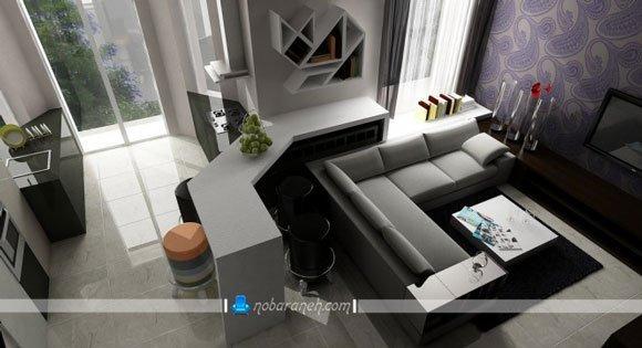 عکس و مدل های چیدمان مبلمان ال در اتاق نشیمن و پذیرایی کوچک