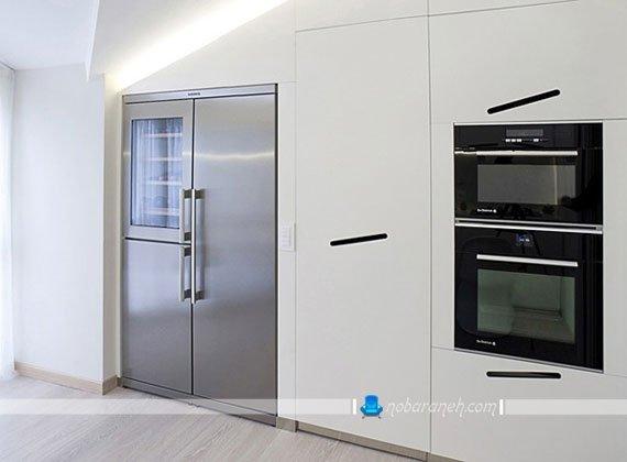 طراحی دکوراسیون آشپزخانه مدرن با رنگ سفید