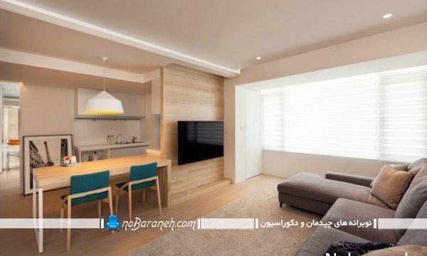 تزیین دکوراسیون خانه با دیوارپوش و کفپوش چوبی