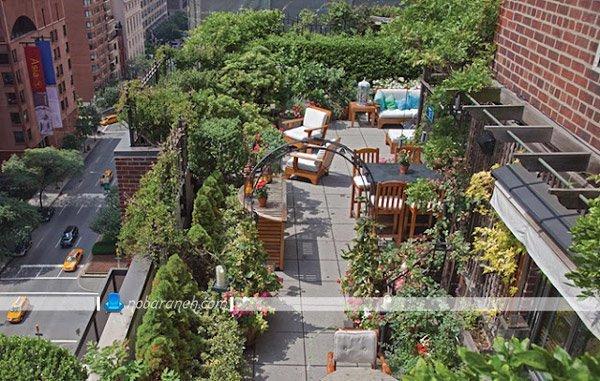 طراحی فضای کافی شاپ و پذیرایی در فضای باز پشت بام، تبدیل پشت بام های بزرگ به کافی شاپ و رستوران