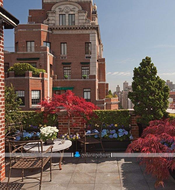 تبدیل پشت بام کوچک به روف گاردن یا باغ بام، ایجاد و طراحی فضای نشیمن دنج در پشت بام خانه