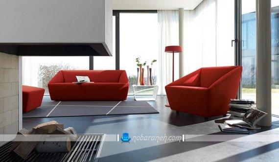 مدل مبل راحتی فانتزی با رنگ قرمز