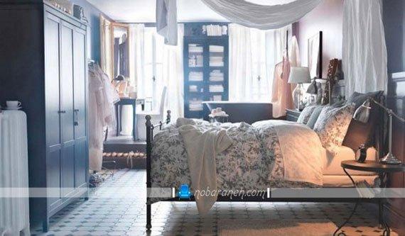 طراحی و تزیین دکوراسیون کلاسیک و ساده در اتاق خواب به سبک ایکیا / عکس