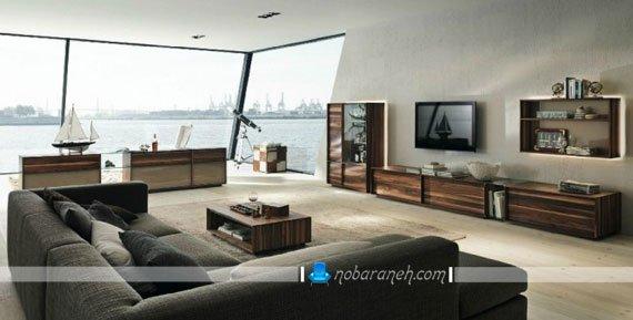 عکس و مدل میز تلویزیون دیواری و چوبی با مدل تزیینی و مدرن / عکس