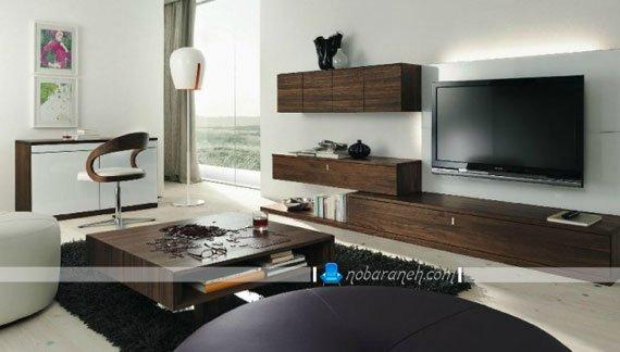 میز تلویزیون دیواری برای ال ای دی (led) / عکس