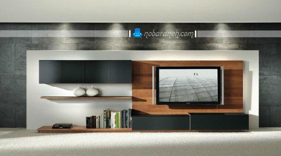 عکس و مدل میز تلویزیون مدرن و جادار / عکس
